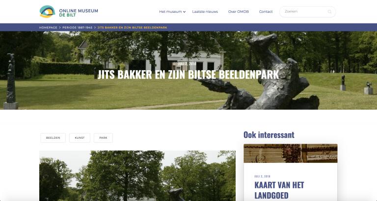 Jits Bakker en zijn Biltse beeldenpark